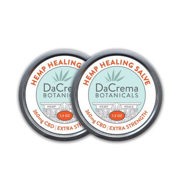 Dacrema Botanicals CBD Salve Combo Pack 360mg Strength